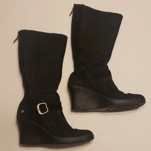 UGG Black Suede High Boota